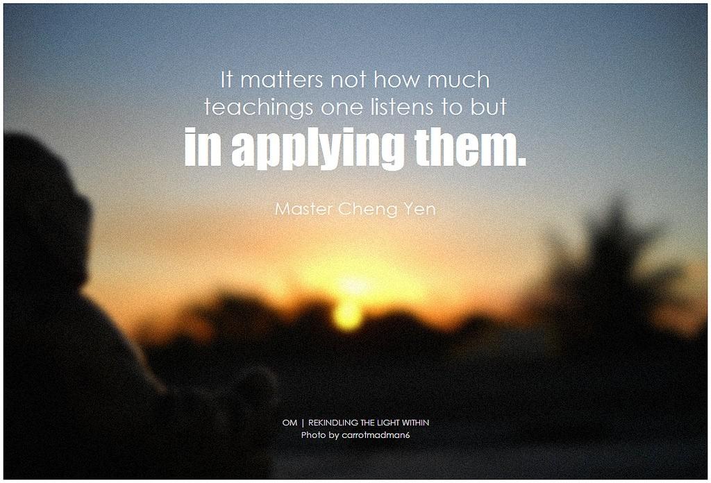 master cheng yen quote